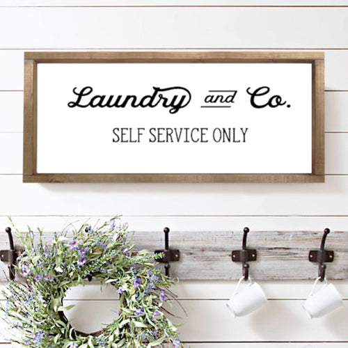 Laundry|Wood Sign