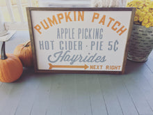 Pumpkin Patch|Wood Sign