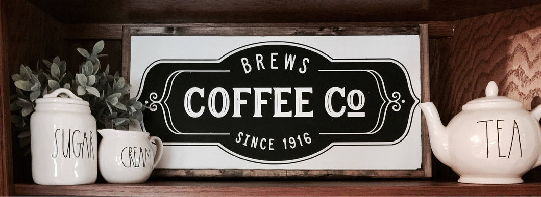 Coffee Bar|Wood Sign