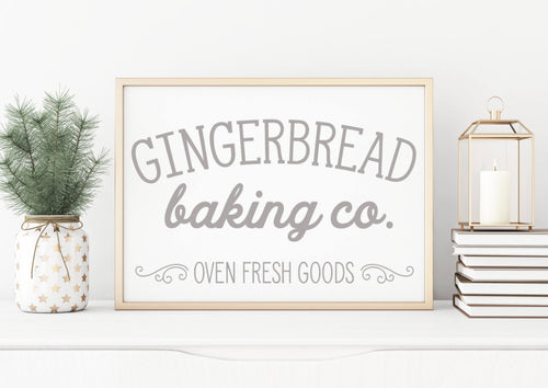 Gingerbread Co|Wood Sign