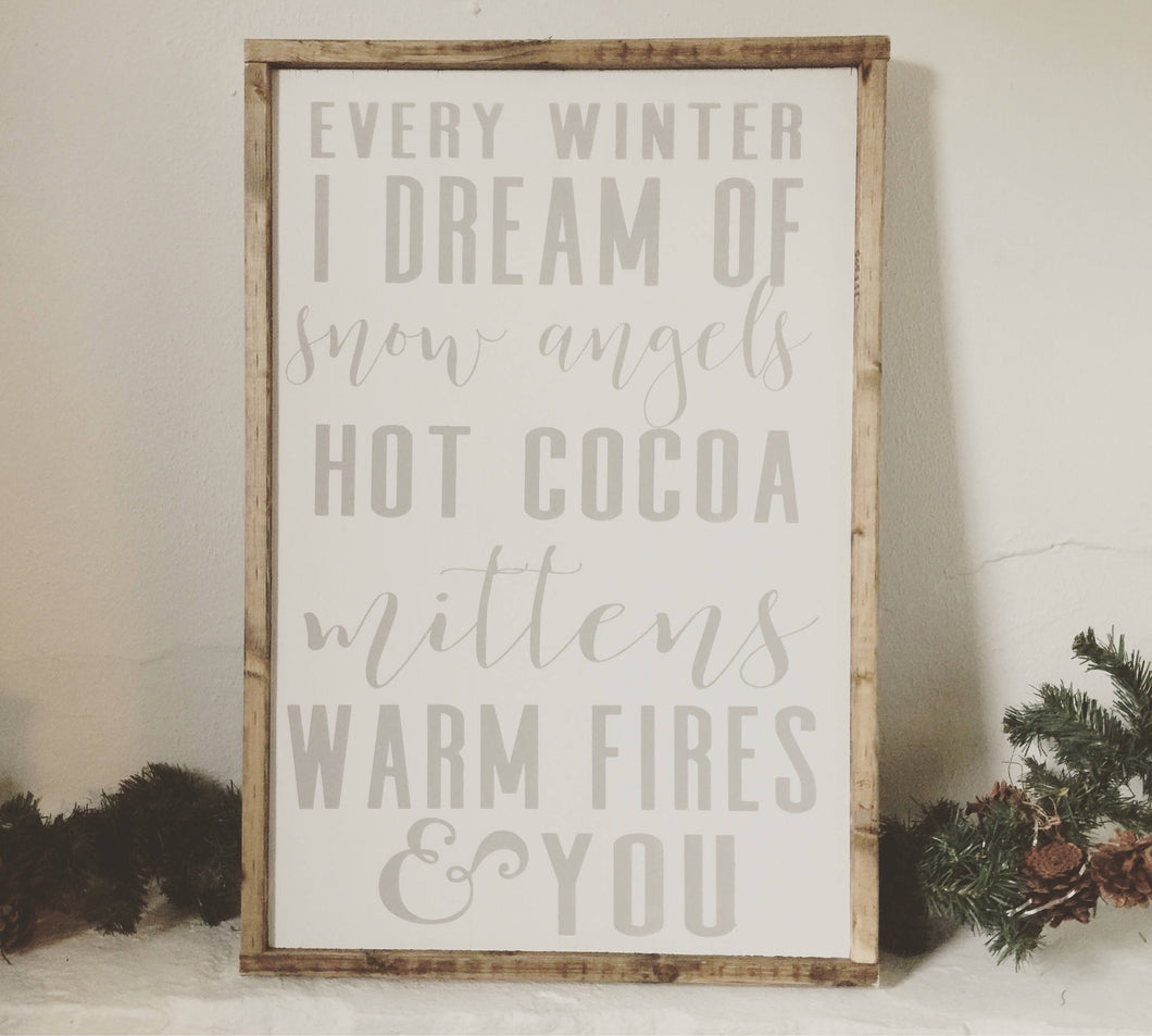 Winter List|Wood Sign