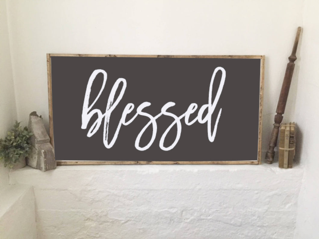 Blessed|Wood Sign|Large