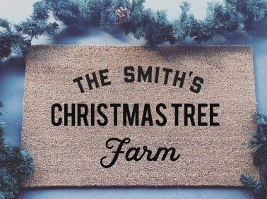 Personalized Chtistmas Tree Farm|Doormat