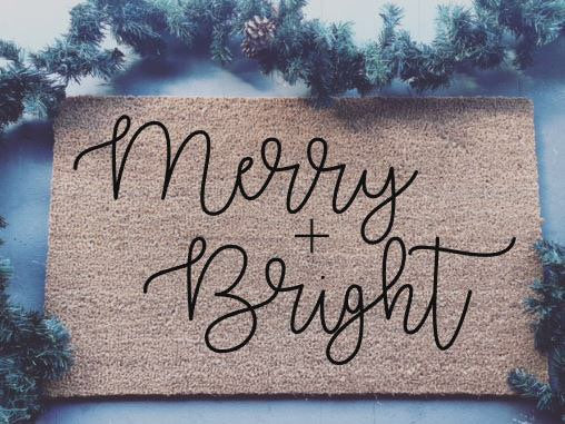 Merry And Bright|Doormat