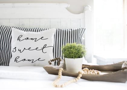 Home Sweet Home|Pillow cover