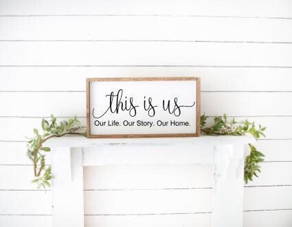 This Is Us|Wood Sign