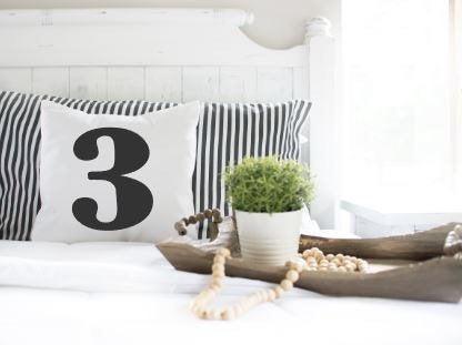 Number|Pillow Cover