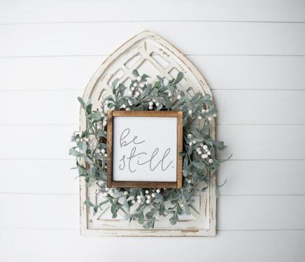 Be Still|Small Wood Sign