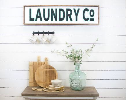 Laundry Co|Wood Sign