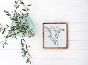 Goat|Wood Sign