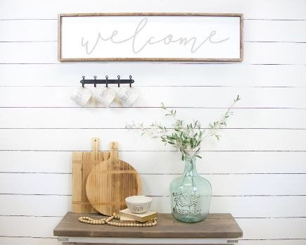 Welcome|Entryway Wood Sign