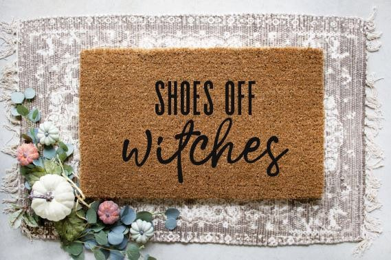 Shoes Off Witches|Doormat