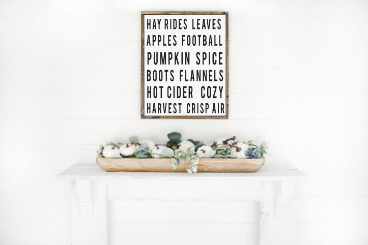 Fall Faves|Wood Sign