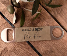 Worlds Best|Leather bottle opener