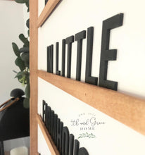 3D Wood Letterboard Sign