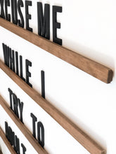 Letter Board Wood Sign Set|3D|All Wood|Medium