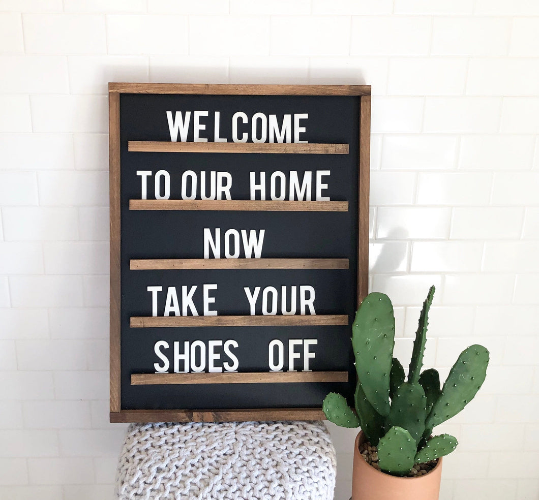Letter Board Wood Sign Set|3D|All Wood