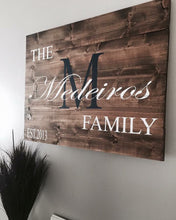 Rustic Family Monogram|Wood Sign