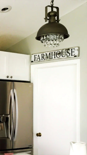 Farmhouse|Wood Sign|Black