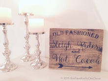 Old Fashioned Sleigh Rides And Hot Cocoa Sign