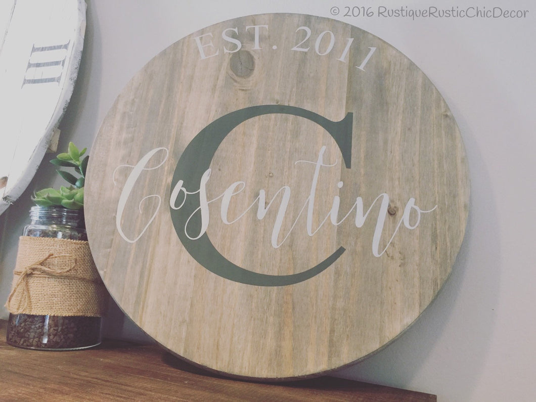 Round Personalized|Wood Sign