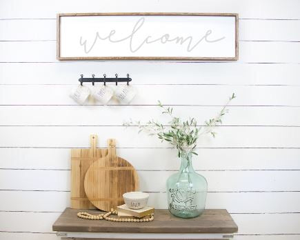 Welcome|Wood Sign