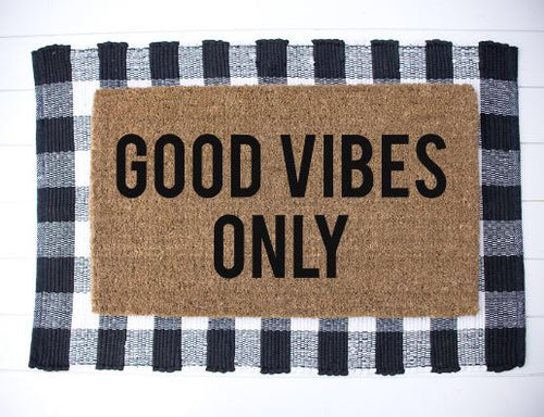 good Vibes Only|Doormat