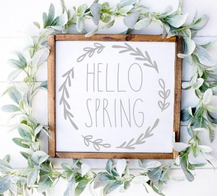 Hello Spring|Wood Sign