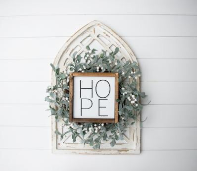 Hope|Wood Sign