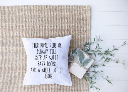 This Home Runs On|Pillow cover