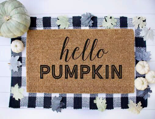 Hello Pumpkin|Doormat