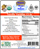 Terrific Tortillas-12 inch