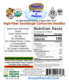 High-Fiber Sourdough Corkscrew Noodles