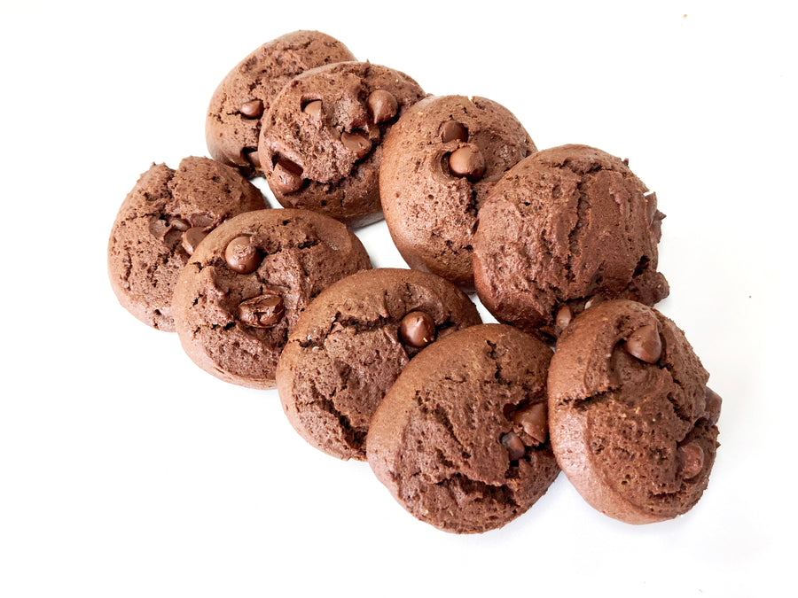 Double Chocolate Brownie Cookies - 9 pk - Sweetened With Maple Syrup