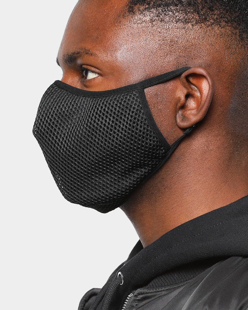 Carré Meshed Face Mask Black