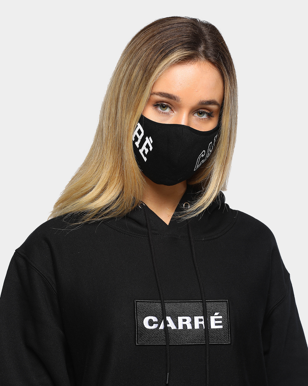 Carré Unisex Enorme Face Mask Black