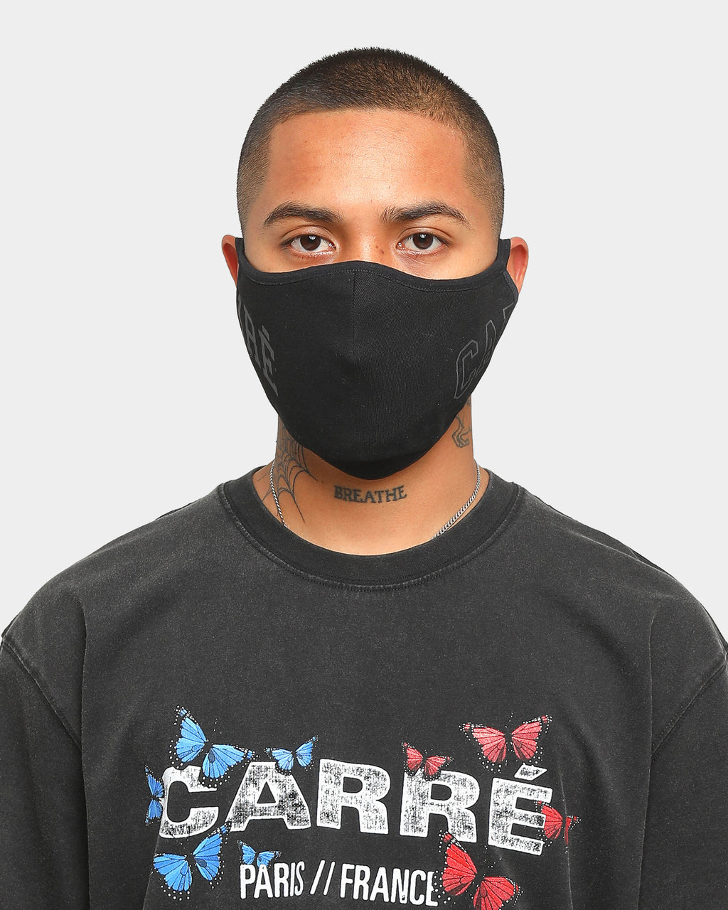 Carré Enorme Face Mask Black/Black