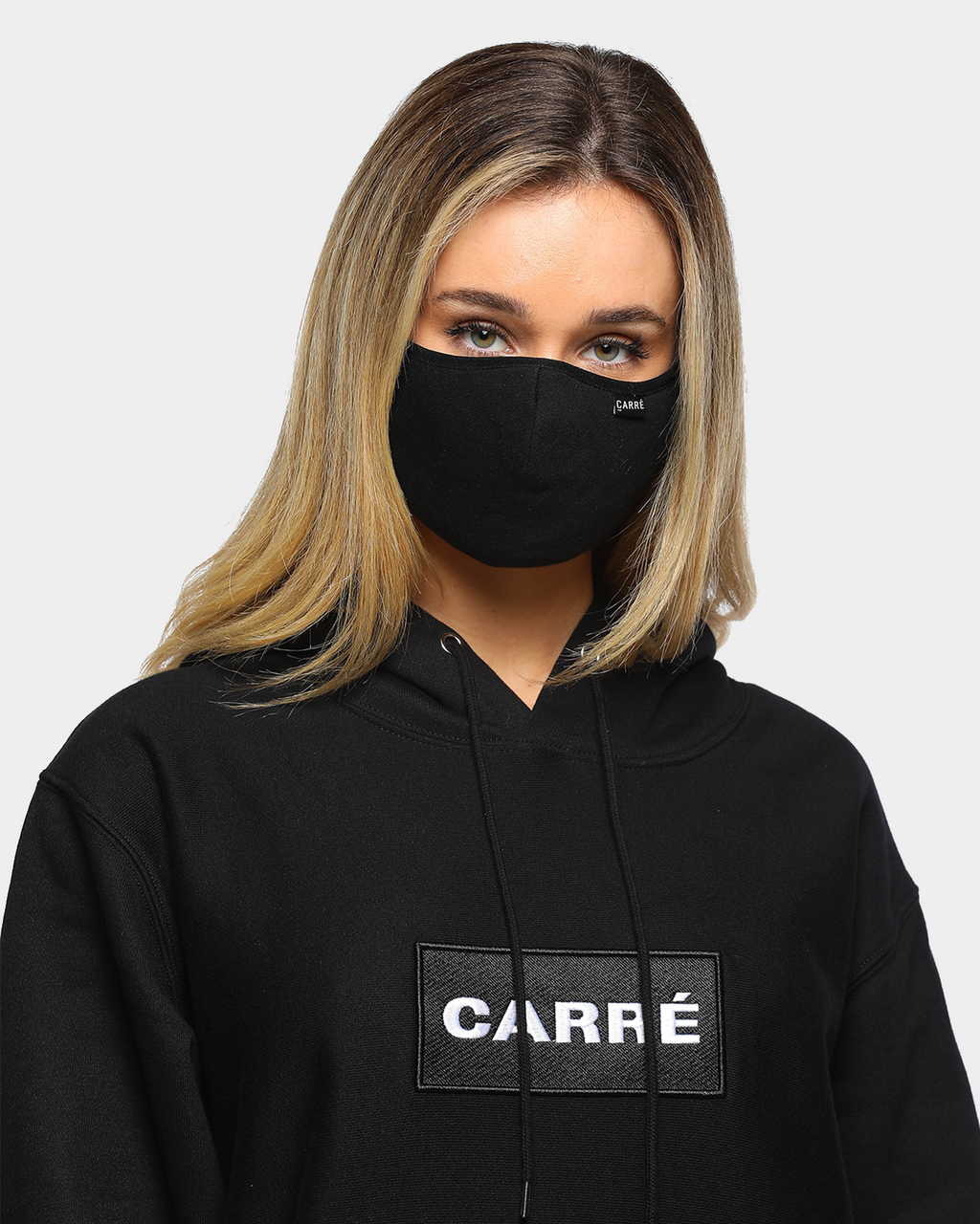 Carré Unisex Enorme Masque Face Mask Black