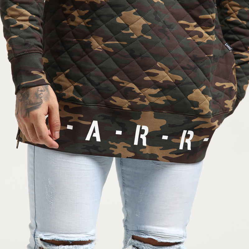 Carré Base Sweater Quilted Camo