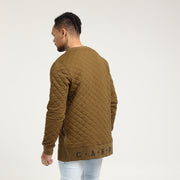 Carré Base Sweater Quilted Olive