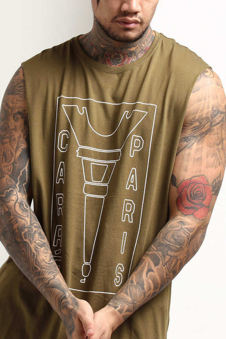 Carré Blueprint Capone Muscle Tee Olive