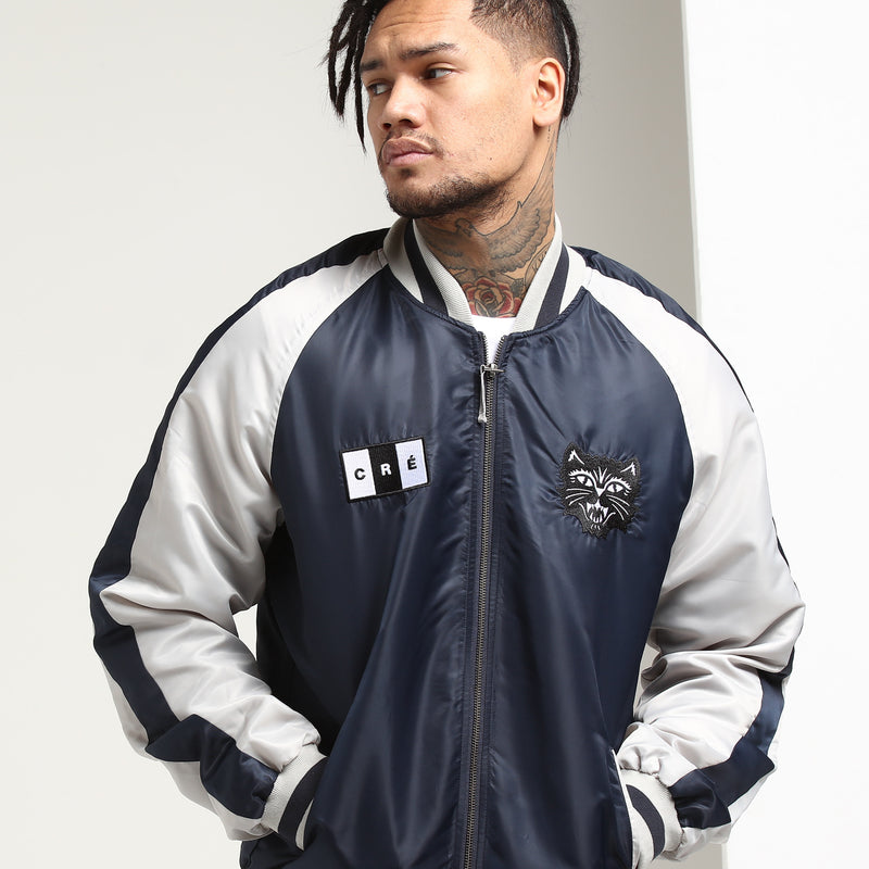 Carré Felin Souvenir Varsity Jacket Navy/Grey