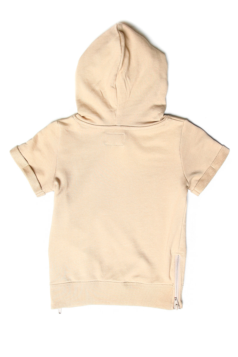 Lil Homme Faucon SS Hoodie Stone