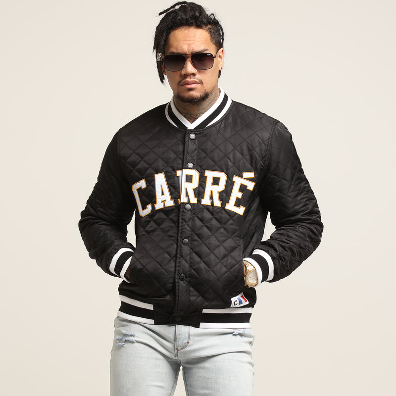 Carré Capitaine Quilted Bomber Black