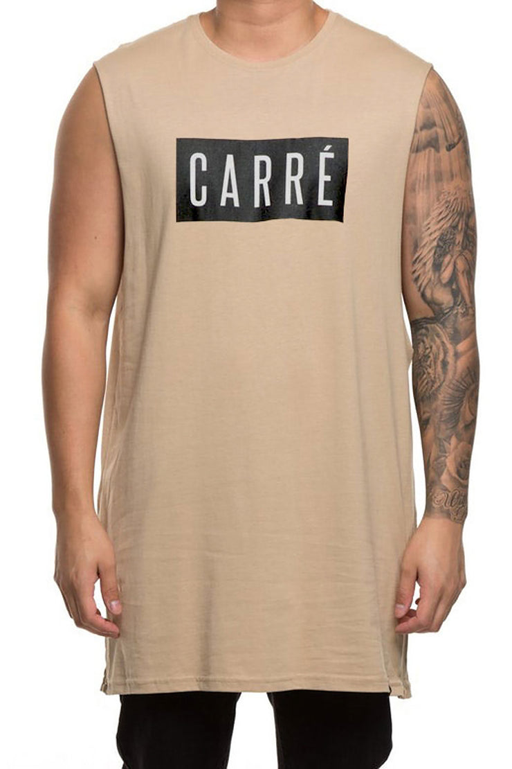 Carré Boast Divise Muscle Tee Stone