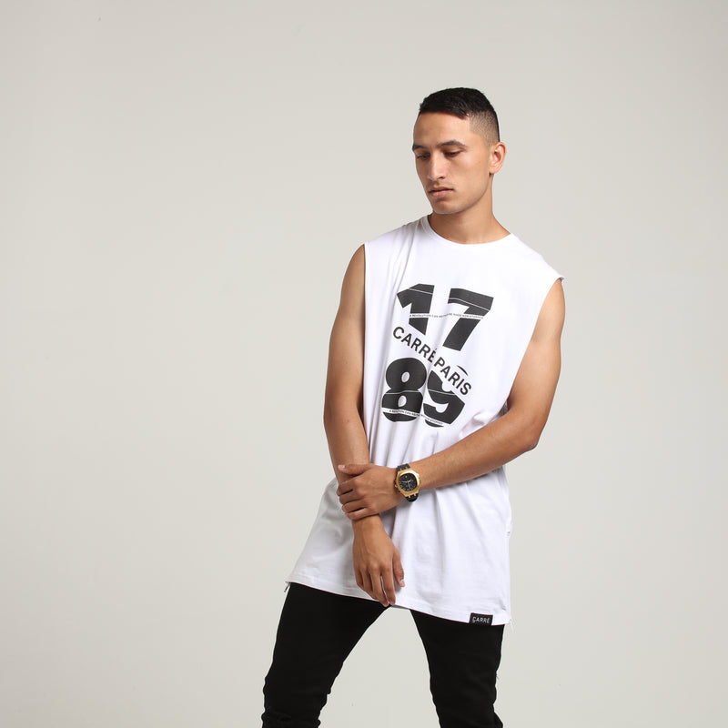 Carré Piece Capone Muscle Tee White