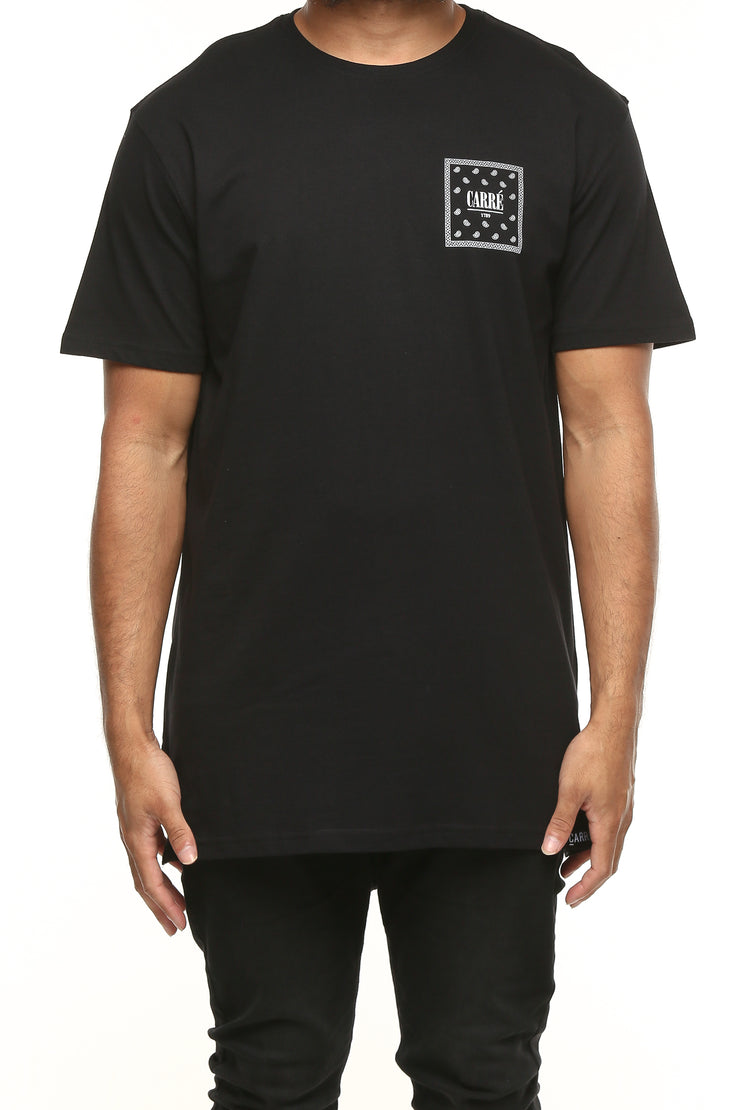 Carré Flagged SS Divise Tee Black