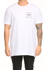 Carré Flagged SS Divise Tee White