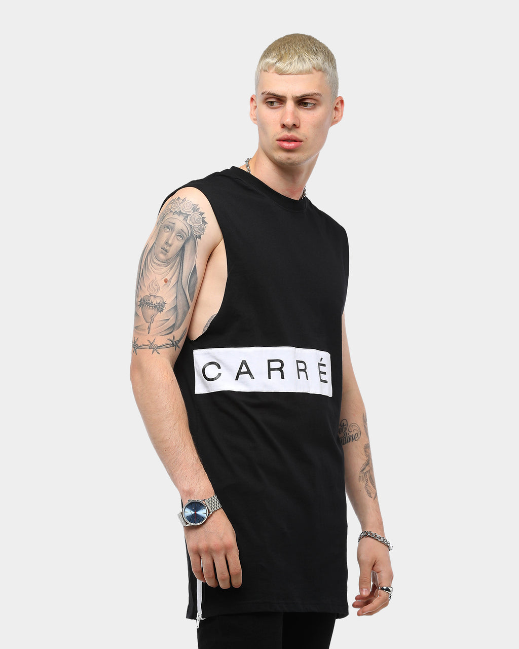 Carré Piece Muscle Black/White