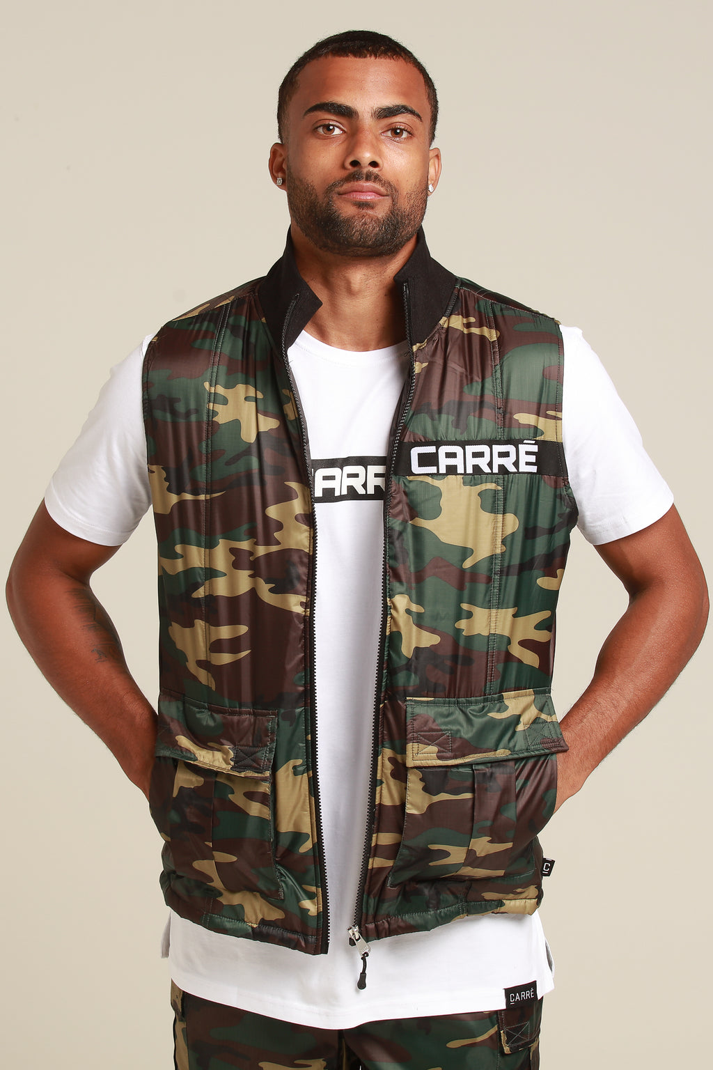 Carré Marked Vest Camo